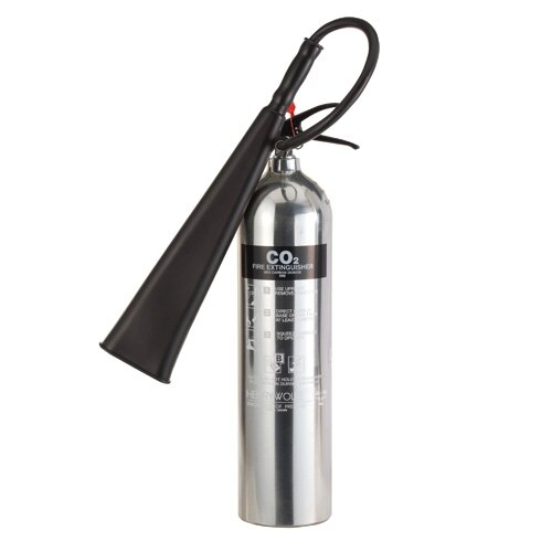 Polished Aluminium 5kg CO2 fire extinguisher