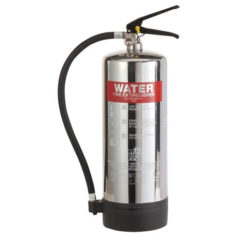 Stainless Steel 6ltr Water Fire Extinguisher