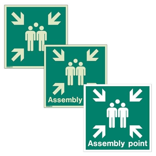 Assembly Area Signs From Jalite