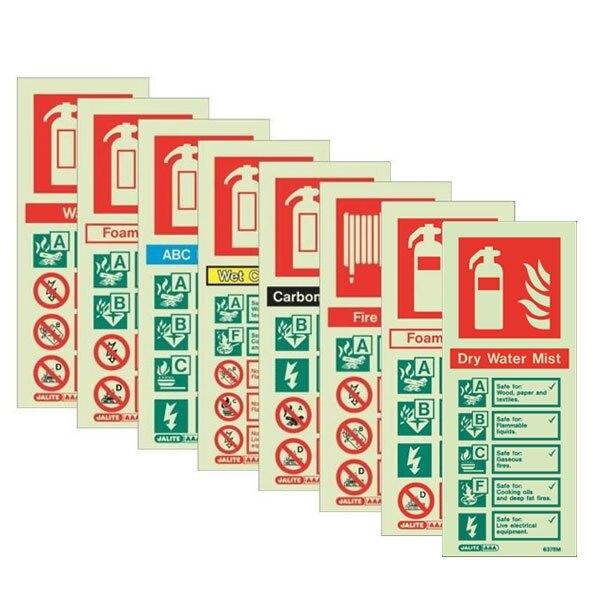 Portrait Fire Extinguisher Identification Signs
