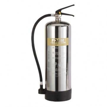 Image of the Stainless Steel 9ltr AFFF Foam Fire Extinguisher