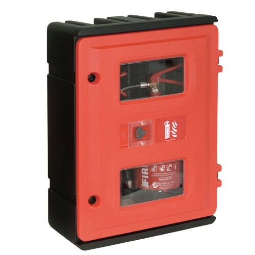 Rotationally Moulded Double Fire Extinguisher Cabinets. Choose Type: