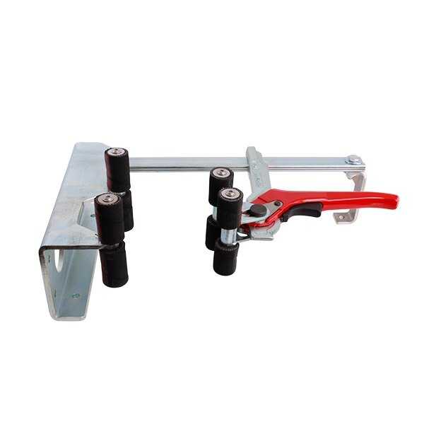 Fire extinguisher servicing clamp for wall, desk or vehicle mounting