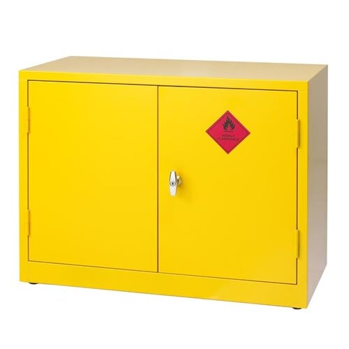 Double Flammable Liquid Cabinet - Small ...  sc 1 st  Fire u0026 Safety & Double Door Flammable Liquid Storage Cabinets