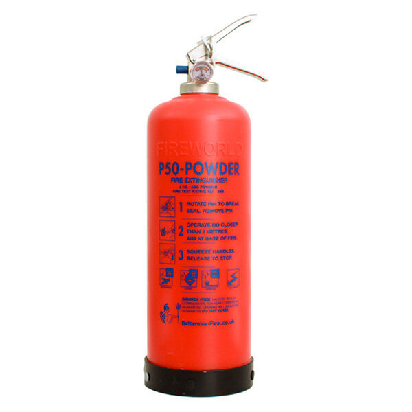 Image of the Britannia P50 Self-Maintenance 2kg Powder Fire Extinguisher