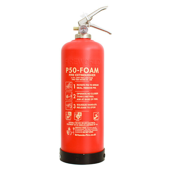 Image of the Britannia P50 Self-Maintenance 2ltr Foam Fire Extinguisher