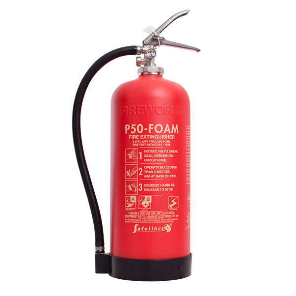 Image of the Britannia P50 Self-Maintenance 6ltr Foam Fire Extinguisher